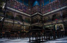 As 15 bibliotecas mais incríveis do mundo - Real Gabinete Português de Leitura, Rio de Janeiro, Brasil