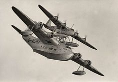1938 Short Mayo Composite. A piggy-back arrangement comprising the Short S.21 Maia (bottom) and S.20 Mercury (top) flying boats, designed for long-distance transatlantic flights. Both aircraft together would attain operational altitude, at which point Mercury would detach and continue to the destination. It was hoped this would negate the need for extra fuel tanks, which used up valuable passenger space on existing Empire flying boats.