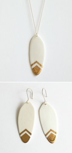 Porcelain Feather Jewelry - from BY LOUMI