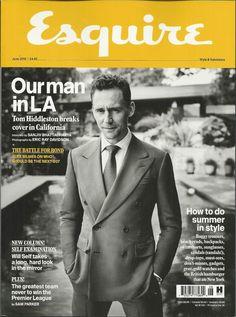 Esquire magazine Tom Hiddleston Will Self James Bond Newcastle Cillian Murphy