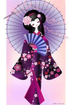 The Modern GEISHA ✿ :: Origami Doll 2 by ~minercia on deviantART