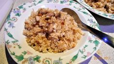 Fried Rice with Chicken and Salt Fish