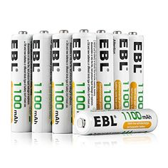 Ebl Aaa 1100mah Ni-mh Rechargeable Batteries 8 Pack Aaa Batteries With Storage Cases