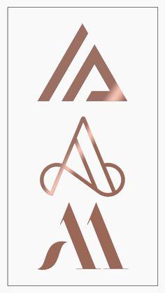 Monograma Letra A / Monogram Letter A – About Graphic Design Logo Branding, Wm Logo, Typography Logo, Branding Design, Monogram Design, Monogram Logo, Monogram Letters, Lettering Design, Letter A Logo Design
