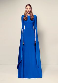 PRE-PURCHASE Expected Delivery February/March 2017 Long Sleeve With Split Gown Colour – Royal Blue Fabric – Care – Dry Clean NOTE – If Your Preferred Size Is Not Available, Please Contact GANACHEinfo@ganacheboutique.com.au.