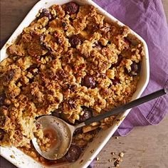 Apple-Cherry Crisp - FamilyCircle.com