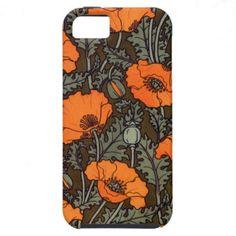 Art Nouveau Field Poppies