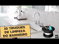 10 TRUQUES DE LIMPEZA DO BANHEIRO | Organize sem Frescuras! - YouTube Cleaning Hacks, Helpful Hints, Sink, Youtube, Home Decor, Restroom Decoration, White Leather Couches, Leather Daybed, Fridge Cleaning