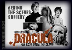 The Black Box Club: CHRISTOPHER LEE VERONICA CARLSON: THE 'DRACULA HAS RISEN FROM THE GRAVE' BEHIND THE SCENES GALLERY UPDATED DAILY: HAMMER FILMS