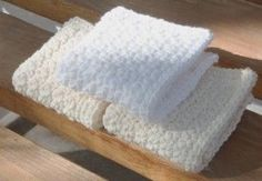 Here you'll find 3 very different patterns all using one crochet stitch – single crochet! The variations used with the single crochet stitches, make the washcloths look like they came from the most experienced of crocheters!- beautiful clean white.