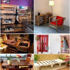 Aquí tienes algunasideas para fabricar muebles y complementos con palets de madera para tu cocina y comedor, comomesas, islas, especieros, botelleros,estanterias, etc... Cada vez somos mas los quereciclamos en nuestro hogar, ylos palets se han convertido en un elemento de tanta utilidad que nos sirven para decorar y fabricar cualquier tipo de mueble. Cocinas hechas con palets   Estanterías y bandejas de almacenaje hechas con palet    Para colgar accesorios de cocina     Botelleros ...