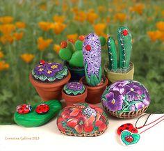 Sassi a p-arte: fiori e frutta - flowers and vegetables
