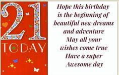 21st birthday greeting cards – wanaabeehere Birthday Greeting Cards, Birthday Greetings, Wish Come True, 21st Birthday, Anniversary Greeting Cards, Birthday Congratulations, Happy Birthday Greetings