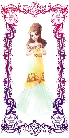 Deco Disney: Belle by Lorraine Yee This is just lovely, probably one of my favorite fanart pieces of a princess. Disney Belle, Princesa Disney Bella, Disney Amor, Walt Disney, Disney Divas, Disney Love, Disney Magic, Disney Beauty And The Beast, Disney And More