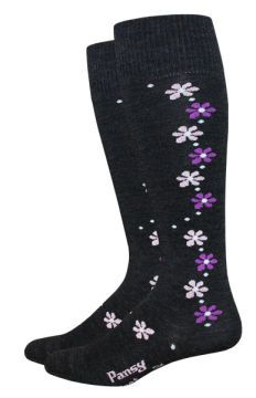 The Pansy is a MONDO design series sock. Made with the finest Merino wool.