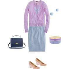 lilac and blue - Polyvore