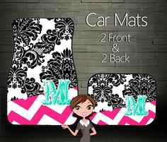 Custom Personalized  Monogrammed Car Mats by BoutiqueMonogram, $39.99