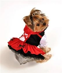 Little Red Hood Dress Dog Costume