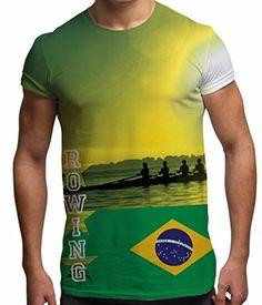 Rowing Brazil Flag Summer of Sport Stars Olympics Tournam…