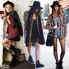 Grunge | Plaid | Tartan | Floral | Boots | http://cademeuchapeu.com
