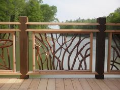 Deck railings for Lissara Lodge While ancient in thought, a pergola has become going Porch Railing Designs, Front Porch Railings, Wood Railing, Metal Railings, Wood Stairs, Deck Railings, Railing Ideas, Pergola Ideas, Pergola Swing
