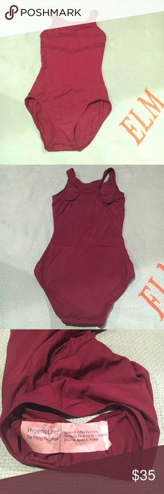 Capezio Maroon Leotard Never worn! Perfect condition! Size medium! Capezio Other