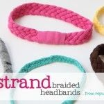 Re-purposing: Tshirts into 5-strand-braided-headbands + other crafts and DIY