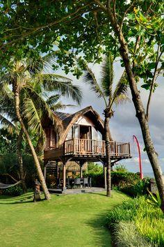 More on Villa Maridadi Villa Design, Beach Shack, Surf Shack, Bamboo House Design, Bamboo House Bali, Hut House, Jungle House, Tiki Hut, Beach Bungalows