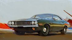 ilustration Here are another high detailed digital paintings Ive done in Corel Painter.This time its a muscle cars, developed in and Digital Paintings, Digital Art, Corel Painter, Automotive Art, Creative Industries, Mopar, Muscle Cars, Mustang, Illustration Art