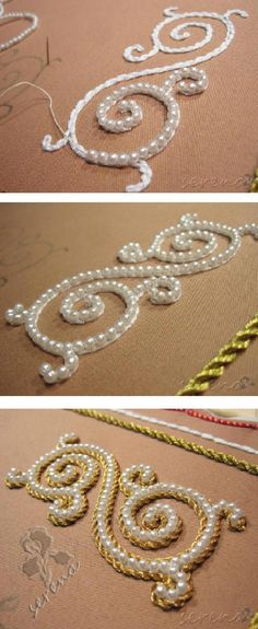 ideas embroidery techniques fashion roller shutter beads for 2019 ideas. ideas embroidery techniques fashion roller shutter beads for 2019 ideas embroidery techniq Pearl Embroidery, Tambour Embroidery, Embroidery Fabric, Embroidery Fashion, Embroidery Stitches, Russian Embroidery, Simple Embroidery, Fabric Sewing, Japanese Embroidery
