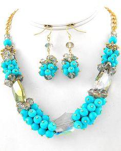 Shoreline Necklace & Earring Set $36