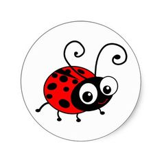Cartoon Ladybug | ladybug ladybugs ladybird ladybirds lady bug lady bird red black polka ...