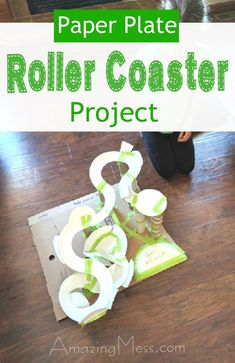 Paper Plate Roller Coaster - Such a fun and creative (and inexpensive) project for kids! Cool STEM project for the classroom! 4th Grade Science, Stem Science, Middle School Science, Teaching Science, Science For Kids, Physical Science, Stem High School, Math Stem, Kids Math