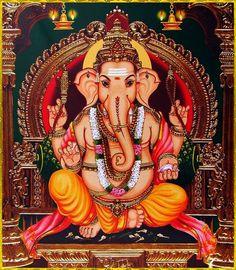 Shiva Art, Ganesha Art, Hindu Art, Sri Ganesh, Ganesh Lord, Ganesha Pictures, Ganesh Images, Shri Hanuman, Krishna