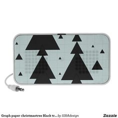 Graph paper christmastree Black triangle Lautsprecher
