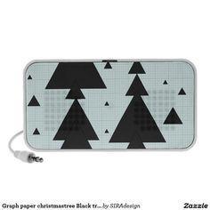 Graph paper christmastree Black triangle Lautsprecher