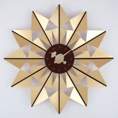 George Nelson Butterfly 20 in. Wall Clock - G111120GOLD
