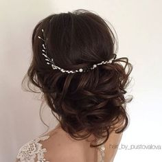Loose Curly Wedding Updo