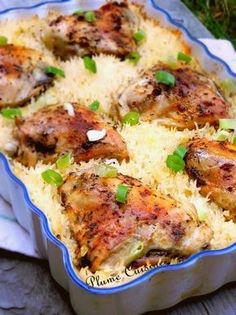 This baked chicken rice is delicious and easy to prepare since it is suf … - Quick and Easy Recipes Fast Healthy Meals, Healthy Dinner Recipes, Easy Meals, Meat Recipes, Pasta Recipes, Chicken Recipes, Clean Eating Chicken, Batch Cooking, My Best Recipe