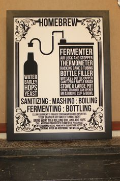 Home Brew BEER Poster - mens gift, man cave - hand-pulled screen print on 22x28 watercolor paper. $44.00, via Etsy.