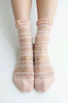 cute, lace socks - style   accessories - inspiration - feminine - idea - ideas - boot socks