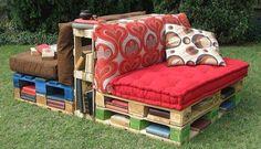 Pallet Outdoor Reading Corner Bench Garden Pallet Projects