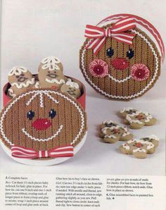 Cute gingerbread containers