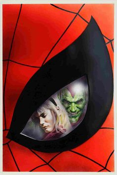 Spider-Man vs. Green Goblin with Gwen Stacy by Alex Ross