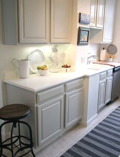 Home Tour. Cabinets painted Ben Moore's Revere Pewter