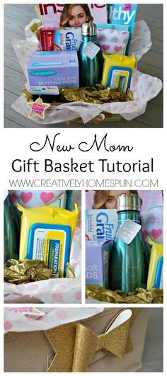 The Ultimate Pinterest Party, Week 122   New Mom Gift Basket Tutorial