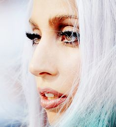 Lady Gaga... She looks beautiful here... I've never really seen her look beautiful