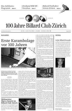 Schweizer-Meister-Titel Mannschaft - Billard Club Zürich…