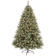 Vickerman 7.5Ft. Frosted 1590 Tips Christmas Tree 700 Clear Mini Lights
