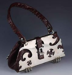 Avenue by Beyond Buckskin Boutique - faux crocodile leather and sterling silver by award-winning artist David Gaussoin. 5th Avenue, Native American Fashion, Indigenous Art, Crocodile, Girly, Shoulder Bag, Purses, Boutique, Shoe Bag